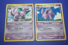 2 Pokemon Cards - Nidorino and Nidoking by LiveLoveCraftDesignz on Etsy Tie Dye Colors, Bold Colors, Rainbow Kids Clothing, Pokemon Cards, Make You Smile, Color Combos, New Baby Products, Art Pieces, Make It Yourself
