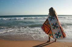 The hippy nest round beach towel Aztec round beach by Roundtowelco