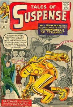 True Believers Kirby Iron Man Nm/mt Reprints Tales to Astonish 40 & 41 for sale online Old Comic Books, Vintage Comic Books, Marvel Comic Books, Vintage Comics, Comic Book Covers, Marvel Comics, Old Comics, Horror Comics, Marvel Avengers