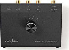 Nedis Analogue Audio Switch ASWI2404BK 3.5mm Female + 3x (2x RCA Female) 2x RCA Female - Skroutz.gr Audio, Female