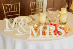 Items similar to Mr and Mrs Wedding Signs for Sweetheart Table Decor, Wedding Sign Mr and Mrs Centerpiece Letters, Mr & Mrs Table Sign ( Item - ) on Etsy Wedding Props, Wedding Signs, Wedding Bells, Wedding Table, Diy Wedding, Wedding Reception, Dream Wedding, Wedding Decorations, Wedding Day