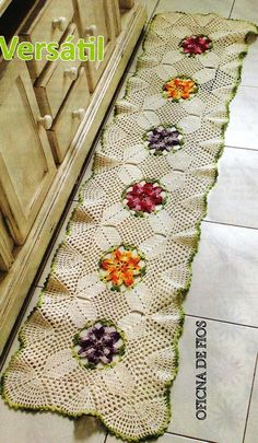 Crochet long floor rug rug ❤️LCR-MRS❤️ with diagram --- REGINA RECEITAS DE CROCHE E AFINS: tapetinhos.mantas ,almofadas.