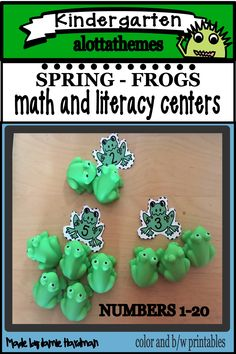 This is one of my most favorite resources. Math and literacy activities in a frog theme that makes it hands on fun and engaging. Kids excited about learning! Number Activities, Number Games, Literacy Activities, Literacy Centers, Shape Games, Frog Theme, Subitizing, Kindergarten Themes, Scissor Skills