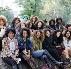 Look at all those natural sisters-- via @teamnatural instagram