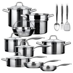 Cookware Sets, Duxtop SSIB-17 Professional 17 Piece Stainless Steel Induction Impact-bonded Technology