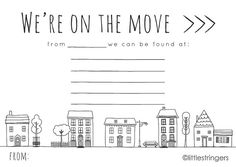 New Home Card Moving Home Announcement Moving by LittleStringers