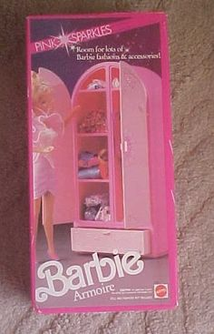 Barbie Pink Sparkles Clothing Armoire Furniture Storage