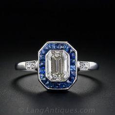 Art Deco Style 1.20 Carat Diamond Engagement Ring
