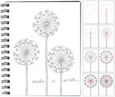 How to draw a dandelion. Try it with a gel pen for extra sparkle! Or with a bleach pen on clothes.... :)
