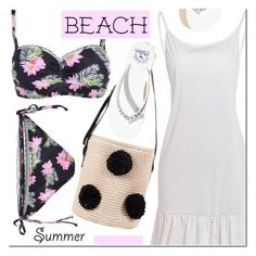 """Rosegal"" by mada-malureanu ❤ liked on Polyvore featuring Hollister Co., dress, swimsuit and rosegal"