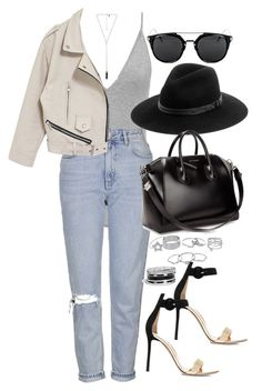 """""""Sin título #1125"""" by osnapitzvic ❤ liked on Polyvore featuring Topshop, Natalie B, Gianvito Rossi, Lipsy, rag & bone, Givenchy and GUESS"""