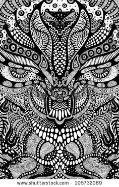 Psychedelic Scull Illustration - 105732089 : Shutterstock