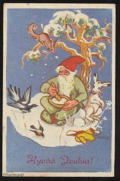 MARTTA WENDELIN Christmas Past, Christmas Greetings, Christmas Crafts, Vintage Christmas, Old Ones, Scandinavian Christmas, Christmas Inspiration, Gnomes, Finland