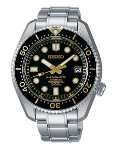The @seikowatches Prospex Diver 50th Anniversary features a retro-style hour and minute hands, bezel insert, and dial; this watch is limited to 2,000 pieces.  #seiko #watchtime #divewatch