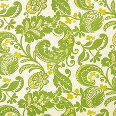 Lime Green Beach Cotton Upholstery Fabric