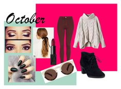 """""""October look"""" by designme101 on Polyvore featuring Topshop, Clarks, Illesteva, NARS Cosmetics, cute, Zoella and october"""