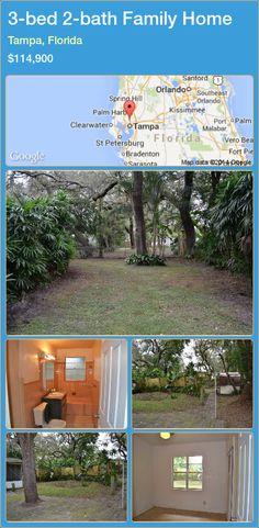 3-bed 2-bath Family Home in Tampa, Florida ►$114,900 #PropertyForSaleFlorida http://florida-magic.com/properties/62217-family-home-for-sale-in-tampa-florida-with-3-bedroom-2-bathroom