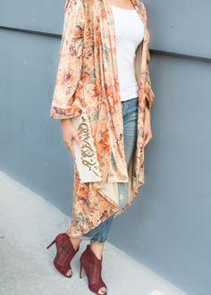 ATW Velvet Floral Printed Kimono - Shop/Product