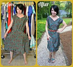 Is there hope for this awkwardly handmade dress?  I think so!  :)