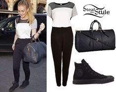 Perrie Edwards: Colorblock Jumpsuit Outfit | Steal Her Style