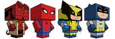 free superhero paper superhero models (printable pattern fits on one standard sheet of paper)