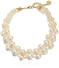 Ben-Amun Jewelry Woven Collar Faux-Pearl Strand Necklace *** For more information, visit now