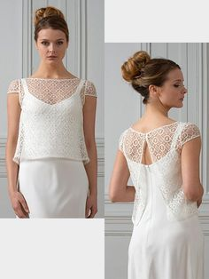 Bolero aus Spitze. Lace, Tops, Women, Fashion, Wedding Bride, Moda, Women's, La Mode, Shell Tops