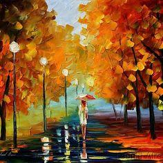 rainy autumn evening