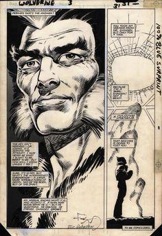 Wolverine #3 interior art by Frank Miller and Joe Rubinstein
