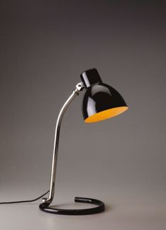 "View Adjustable ""Kandem"" table lamp by Heinrich Siegfried Bormann sold at Design on 9 June 2010 New York. Vintage Furniture Design, Deco Furniture, Vintage Designs, Lighting Logo, Interior Lighting, Lighting Design, Indirect Lighting, Elements Of Design, Mid Century Design"