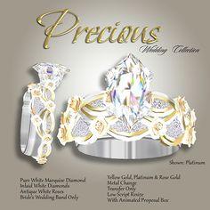 Exquisite Precious White Diamond Wedding Ring