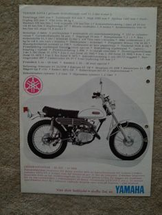 Yamaha Trial 125 GYT at 1 Brochure from Sweden 197 | eBay