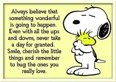 advice from Snoopy!Good advice from Snoopy! Peanuts Quotes, Snoopy Quotes, Me Quotes, Funny Quotes, Snoopy Love, Charlie Brown And Snoopy, Snoopy And Woodstock, Charlie Brown Quotes, Snoopy Hug