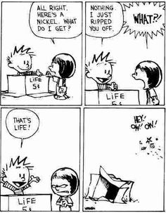 58 Best Ideas Funny Comics Strips Hilarious Calvin And Hobbes Best Calvin And Hobbes, Calvin And Hobbes Quotes, Calvin And Hobbes Comics, Caricature, Mano Brown, The Awkward Yeti, Funny Comic Strips, Online Comics, Humor Grafico