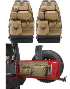 Smittybilt Front G.E.A.R. Seat Covers with Tailgate Cover for 07-13 Jeep® Wrangler & Wrangler Unlimited JK