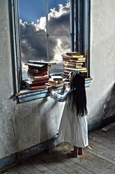 The Ghost's Library No. 12  8 x 12 by MoonIsSingingPhotos on Etsy, $28.00