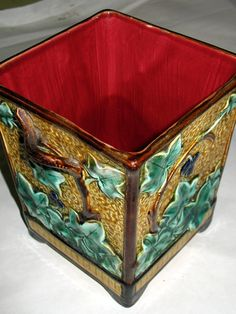 CLEARANCE Antique Majolica Planter