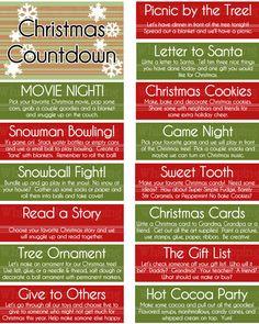 Free printable kid's Christmas countdown jar. A great way to help the kiddos countdown to Christmas!