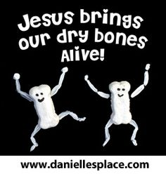 """Jesus Brings Our Dry Bones Alive"" Ezekiel Bible Craft for Sunday School from www.daniellesplace.com"