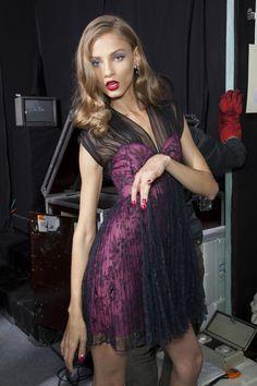 "vladallena: "" Anna Selezneva backstage at Dior Spring/Summer 2010 """