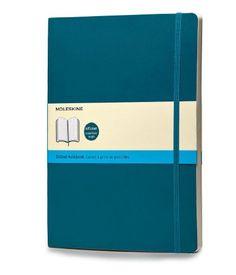 Moleskine farbiges Notizbuch (XL, Softcover, Punkteraster) unterwasser-blau