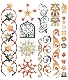 Islamic jewelry - Design elements of Islamic art Pattern Use these designs as influence for the henna design Islamic Motifs, Islamic Art Pattern, Arabic Pattern, Pattern Art, Art Patterns, Pattern Design, Art Floral, Motif Floral, Persian Pattern