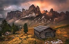 Foggy morning on Passo Gardena Dolomites Italy by christofsimon Cool Photos, Beautiful Pictures, Mountain Photos, See The Sun, Foggy Morning, Luxury Travel, Mother Earth, Monument Valley, Italy