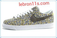 new products 2422e 3108f Nike Blazer Low Campus Summer 2013 Flower Print Womens Dark Grey White  Light com have all Nike Blazers For Half Off