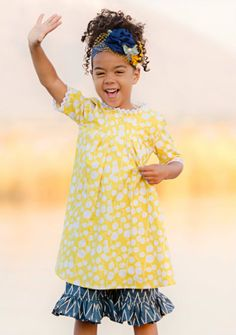 One Good Thread - Persnickety Clothing - Penny Dress - Yellow | Sail Away, $82.00 (http://www.onegoodthread.com/persnickety-clothing-penny-dress-yellow-sail-away/)  #OGTBoPeep