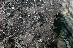 Boston in the snow - taken from the International Space Station, January 2, 2013 at 10:15 AM