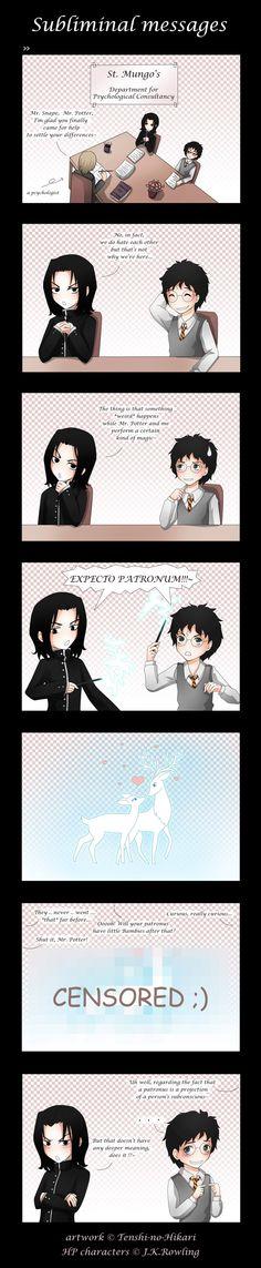 HP - Severus Snape and Harry Potter, expecto patronus - Subliminal messages by Tenshi-no-Hikari