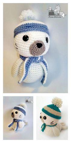 Amigurumi Baby Seal Free Pattern – Amigurumi Free Patterns And Tutorials Doll Amigurumi Free Pattern, Amigurumi Doll, Crochet Hooks, Free Crochet, Animal Knitting Patterns, Baby Seal, Hello Dear, Single Crochet, Tutorials