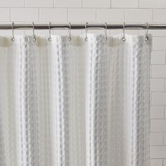 Waffle Grommet Shower Curtain - White | West Elm