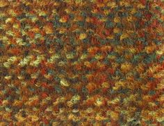BRIAR MOHAIR TWEED SAMPLE, 1960. Double cloth twill fabric, woven in brushed looped space-dyed mohair, wool, worsted and polyester, in red, green, brown and yellow.